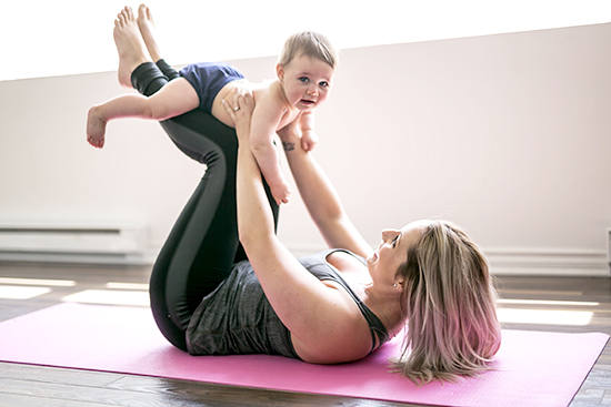 Baby and Mom Yoga Class